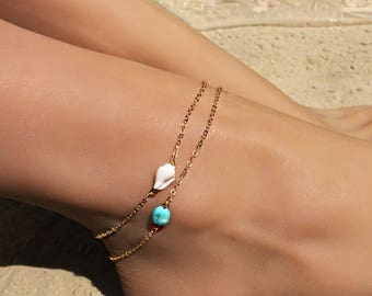 ec6602acb Turquoise anklet