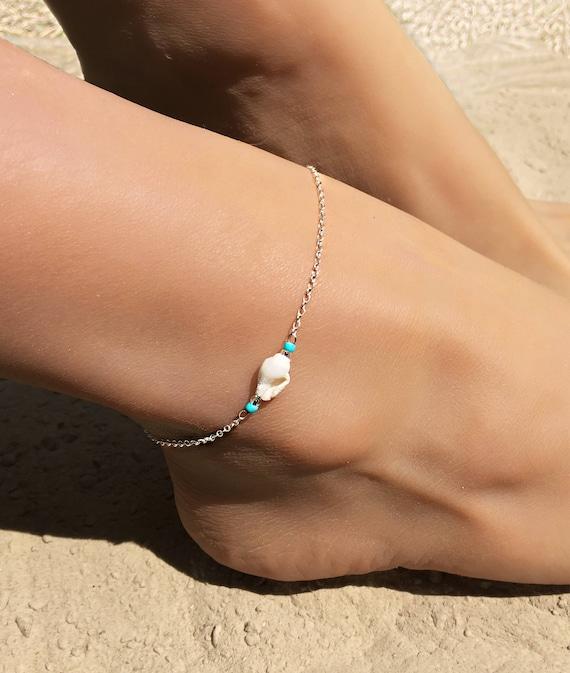 Boho Style Anklet Beach Simple Shell Ankle Bracelet Women Foot Chain UK SELLER