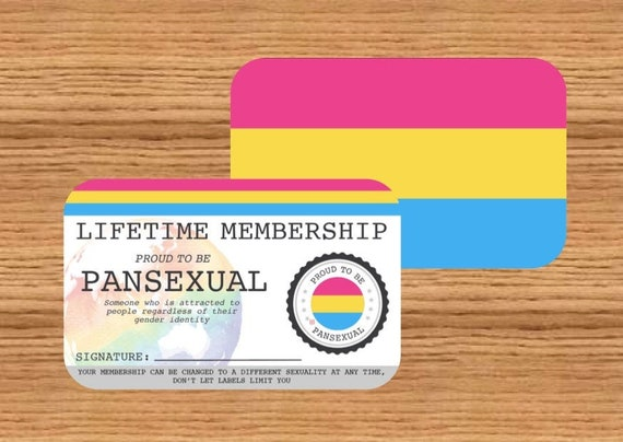 Pansexual Lifetime Membership Card Etsy