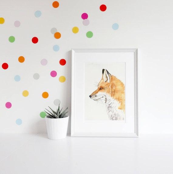 Gift For New Baby Fantastic Mr Fox Kids Room Wall Art Etsy