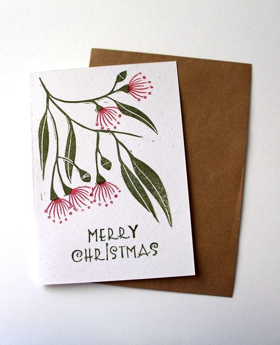 Weihnachtskarte australische Weihnachtskarte Blüte Gum | Etsy