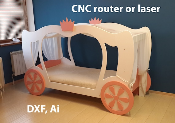 Princess Cinderella Bed Vectors For Cnc Diy Etsy