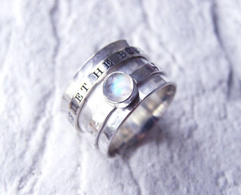 Spinner rings for women Spinner wedding band Fidget Ring Spinner ring Meditation Ring Moonstone spinner ring Spinning Ring