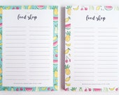 Food Shop List A6 Pad | Fruit Shopping List | Grocery List | Christmas Gift | Present | Xmas Gift | Stocking Filler