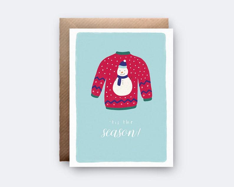9316cffef7a7b0 Tis The Season Merry Christmas Ugly Christmas Jumper Card