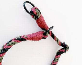 Size, collar, adjustable sliding, semi-sly, nautical rope, small size, military, black, olive green, wine, burgundy