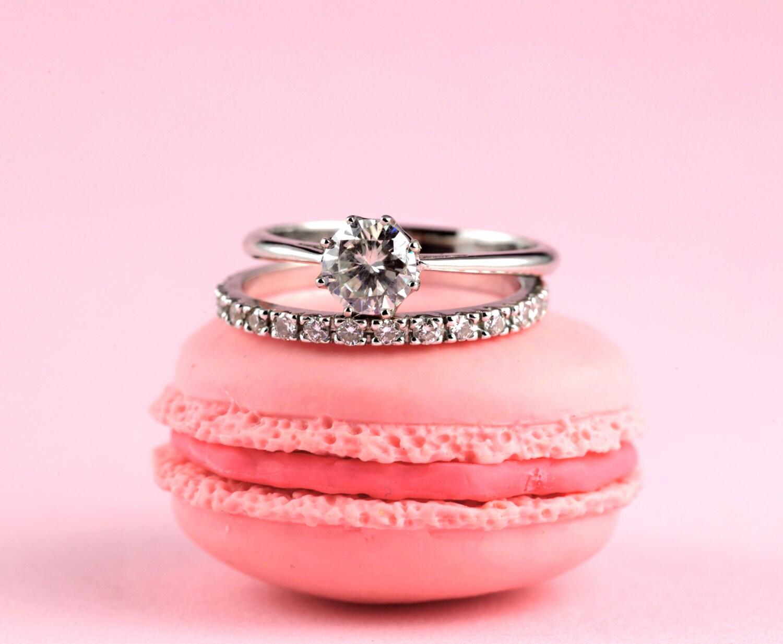 Moissanite Engagement Ring Solitaire Engagement Ring Diamond | Etsy