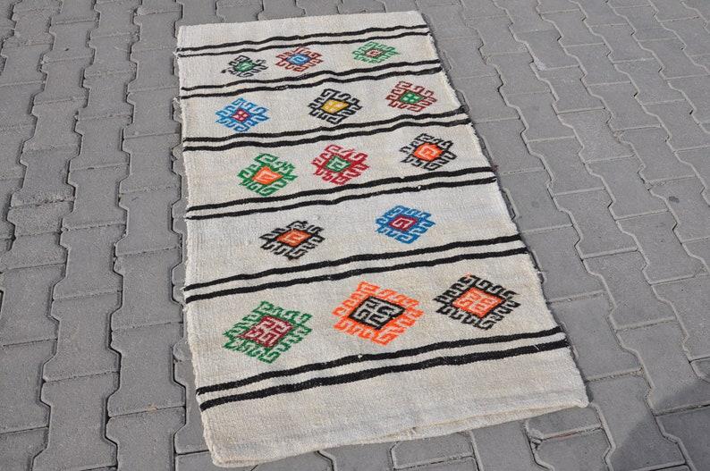 Floor Rug Decorative Rug kn21 Vintage Home Decor Natural Kilim 3x5 Vintage Hemp Rugs Organic Hemp Rug Hemp Kilim Rug