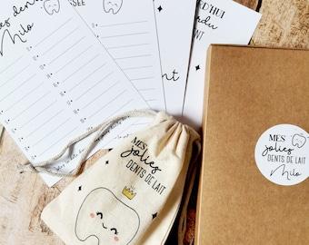 Milk Teeth - Milk Teeth Kit - Baby Teeth Card - Quenotte Card
