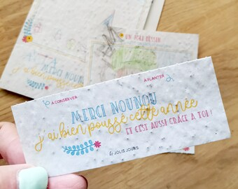 Plantable card • Seeded paper card • Birth card • Welcome baby card • Congratulations card
