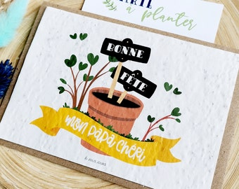 Dad's Card to Plant - Father's Day Card - Father's Day Card - Father's Day