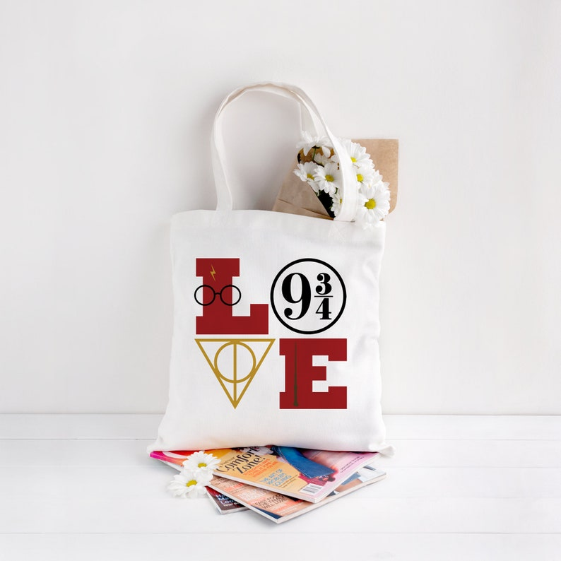 Harry Potter tote bag  Potterhead Bag  Love Harry Potter  image 0
