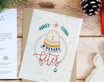 Happy Holidays Planting Card
