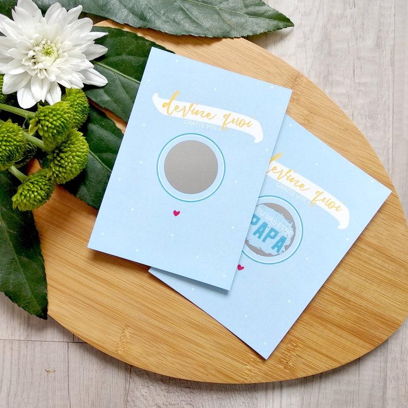 Pregnancy Scratch Card  Pregnancy Announcement Scratch Card  image 0