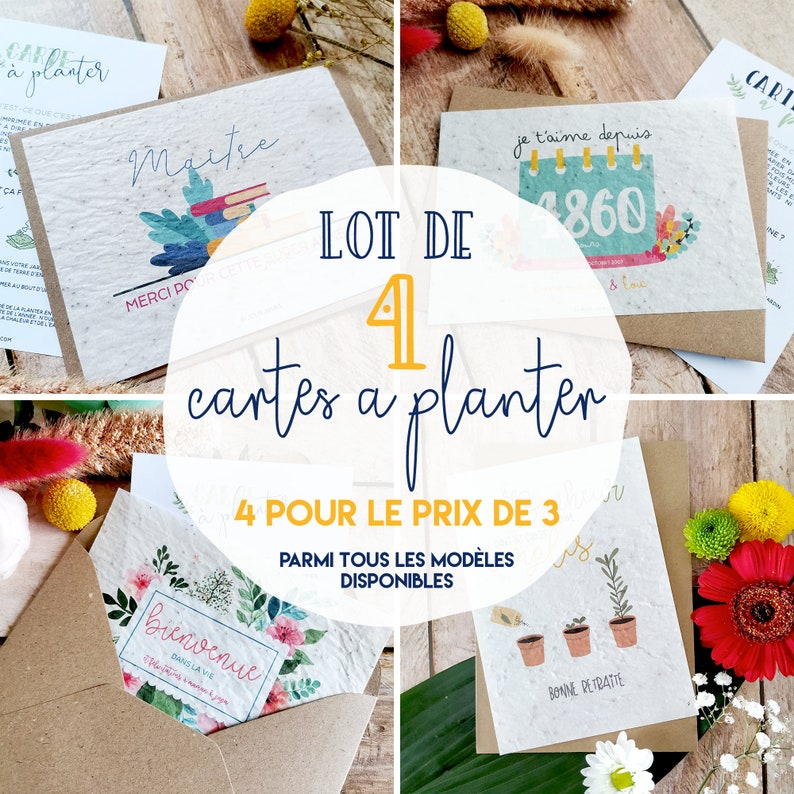 Card to plant  Lot of cards to plant  4 cards to plant image 0
