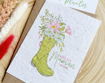 Happy Mother's Day Planting Card for Mother's Day