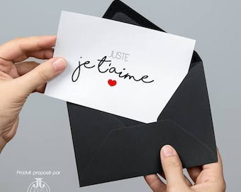 I love you card - Valentine's Day Card - Just I love you - Love card - Love card