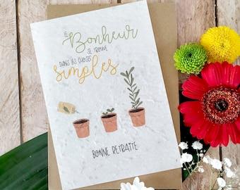 Retirement Card, Retirement Planting Card, Retirement Sow Card, Retirement Gift, Flower Card