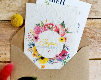Plantable card • Seeded paper card • Birthday card • Birthday gift