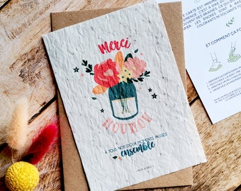Nanny gift, nanny planting card, nanny sowing card, nanny end-of-contract gift, flower card