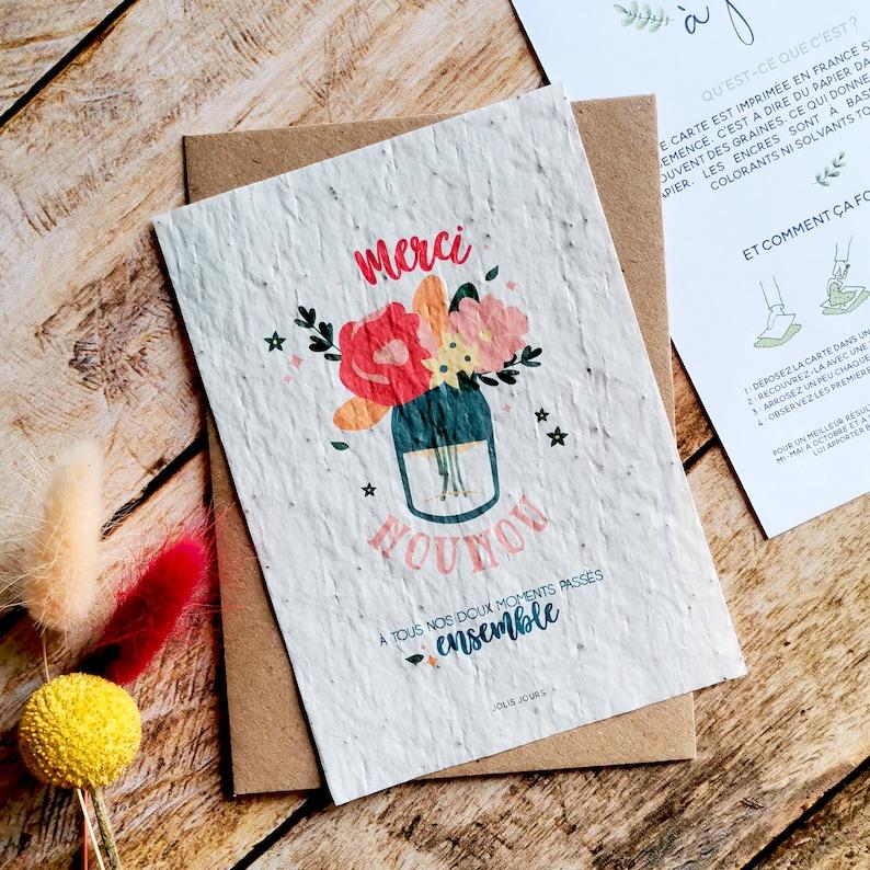 Nanny gift nanny planting card nanny sowing card nanny image 0