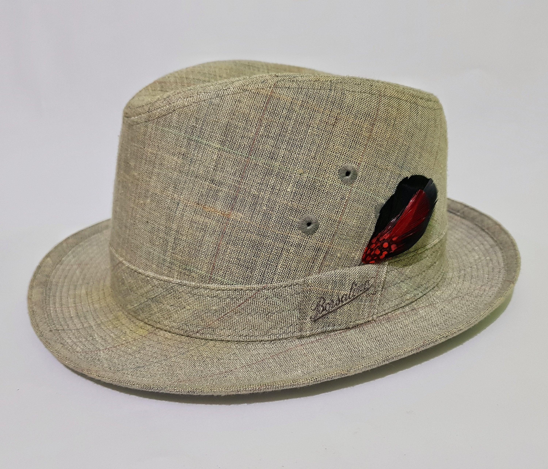 Vintage Borsalino Alessandria Fedora Gray Hat with Original  014b5cedf72