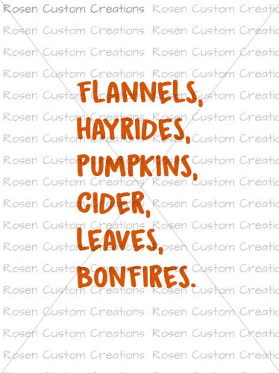 Fall Svg Pumpkins Leaves Bonfires Hayrides Pumpkin Patch Etsy