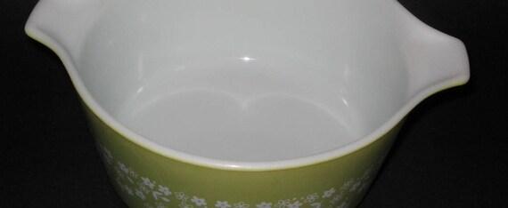Green Pirex Bowl Oven Safe Pirex 474-b 1 quater Bowl Pirex Mixing Bowl