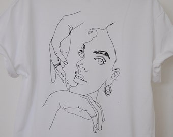 Art girl T-shirt (2 sides)