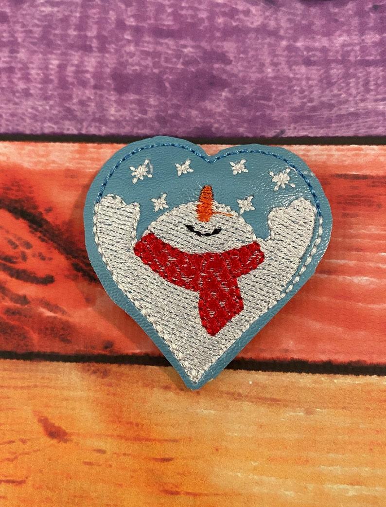 Snowman Heart Feltie Hair Bow Supplies Felt Applique UNCUT Felt Embellishments