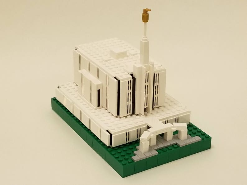 NEW Lego MOC Seattle Washington LDS Mormon mini Temple architecture kit  with instructions