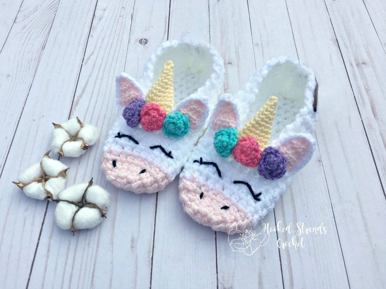 Unicorn slippers Unicorn socks Womens slippers Chunky image 0