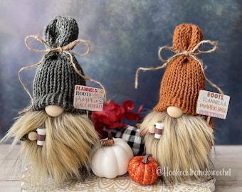 Pumpkin Spice gnome, Tiered tray decor, Autumn gnome, Fall Decor, Harvest Decor, Knit gnome, Coffee decor , Made to order