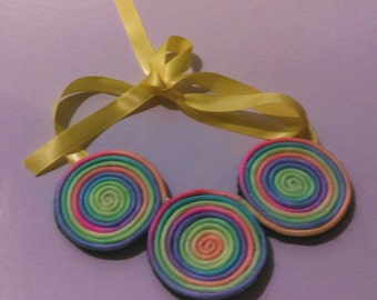 Rainbow Swirl Necklace