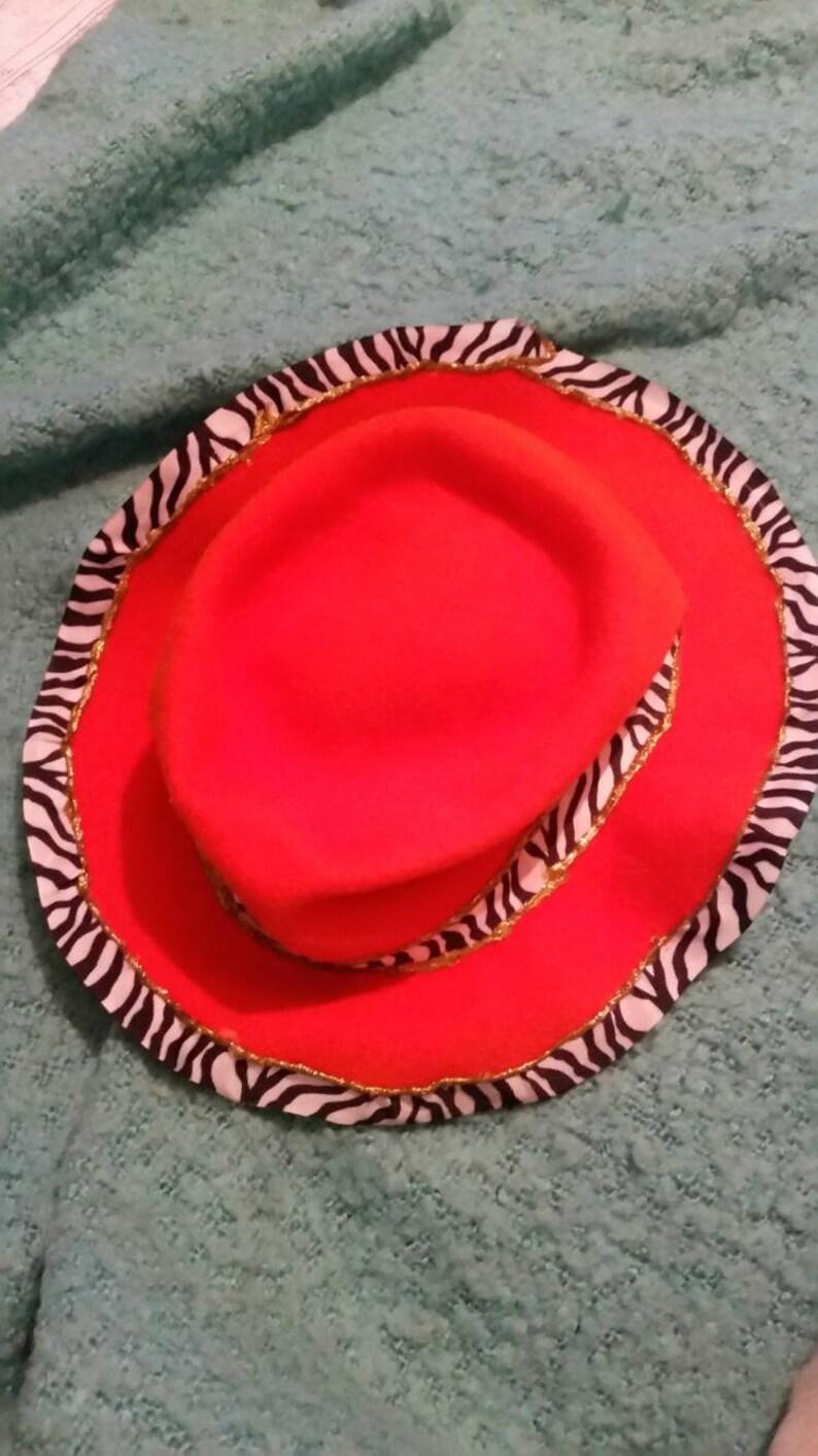 f476882a0 Vintage Orange Effanem Crusher Hat with Zebra Band and Rim