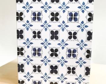Mini 5pk Indigo Cross Tile Bundle of Love Notes- A7 Blank Card with envelope seals