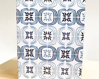 Mini 5pk Indigo Star Tile Bundle of Love Notes- A7 Blank Card with envelope seals
