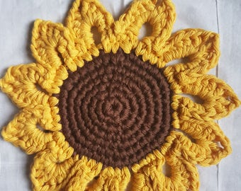 Sunflower Coaster *Crochet Pattern*