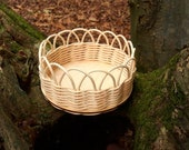 DIY basketry kit for beginners Round basket rattan centre cane reed make your own WonderWeaver Design Craft kit Mothers Day gift