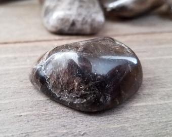 Smoky Quartz Crystal Stone - Reiki Crystal - Polished Quartz - Gray Quartz - Smoky Rock - Quartz Crystal - Reiki Infused Rocks
