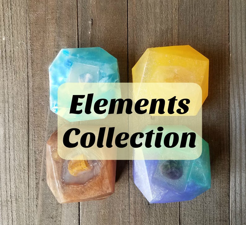 Crystal Reiki Soap  Elements Collection  Crystal Soap  image 0