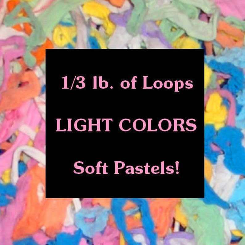 1//3 POUND BAG KIDS CRAFTS NYLON POTHOLDER LOOPS /& FREE PATTERNS NEON COLORS