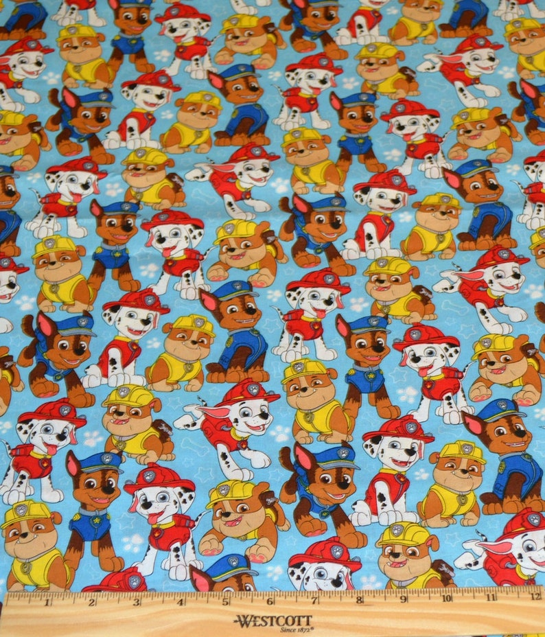 63f9ebba PAW PATROL FABRIC / 1/2 Yard For Quilting / Marshall Chase | Etsy