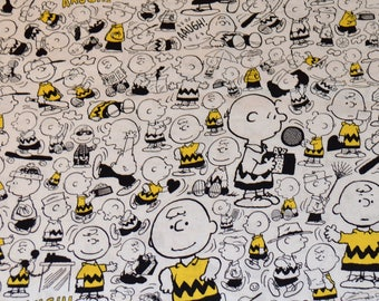 CHARLIE BROWN FABRIC / 1/2 Yard For Quilting / Comic Poses - Peanuts - Good Grief!