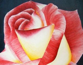Acrylic canvas painting acrylic painting Original mural Rose