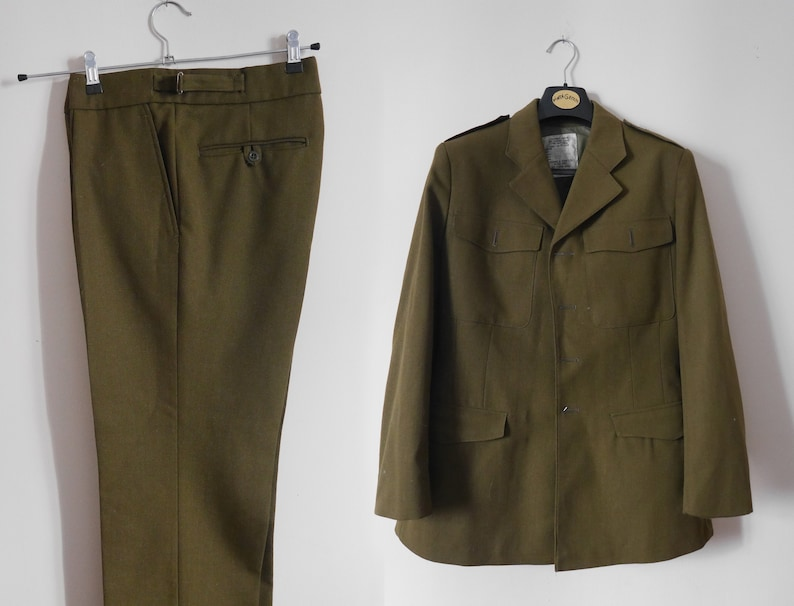 Vintage 80s British Army Military Uniform No2 Authentic Army Etsy