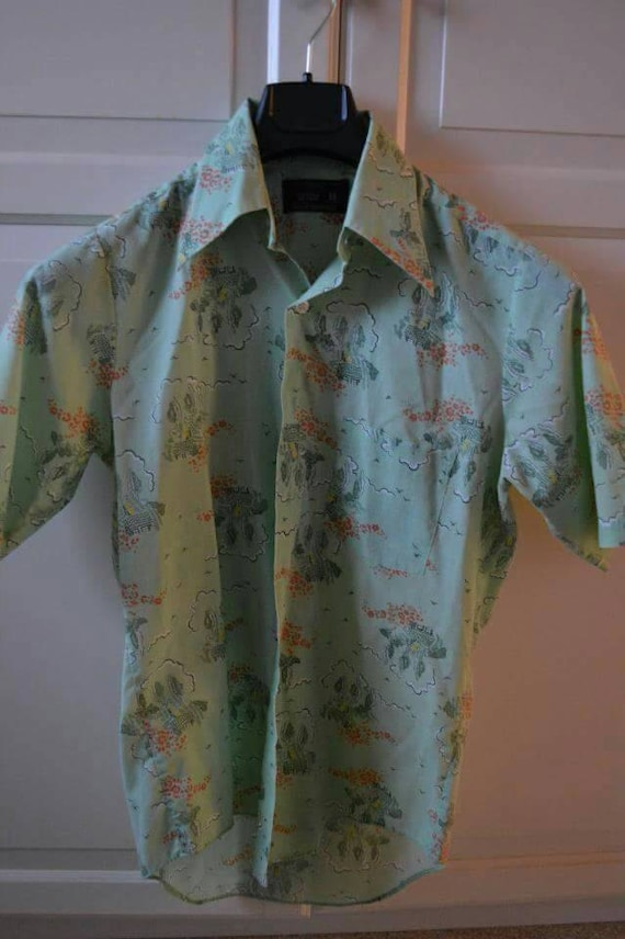 1950's Towncraft Shirt, rockabilly, green with coo