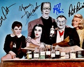 THE MUNSTERS - A Pre-signed Photo-Print from the Main cast of the TV show - Suitable for Album, Pin-Up, Gift, or Collection.