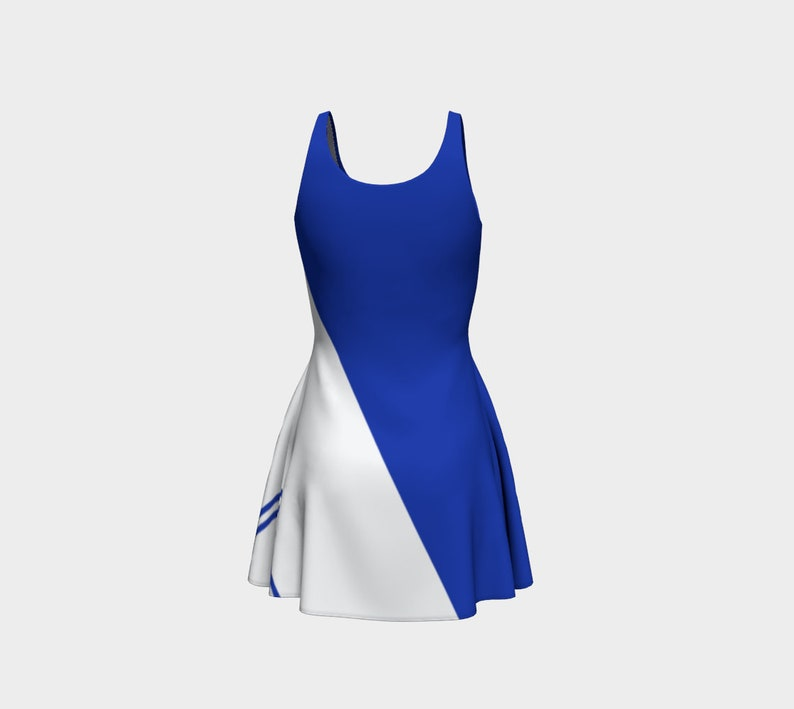 Blue Team Flare Dress