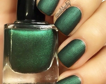 "P•O•P Polish Indie Nailpolish Nail Mirror ""Castleton."" Matte Smoke & Mirrors Collection"